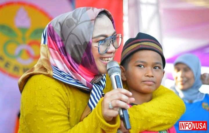Perwosi Kabupaten Karawang Gelar Kegiatan Olahraga Bersama Masyarakat Telukjambe  Barat