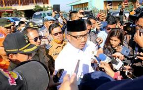 Wabup Subang Dampingi Gubernur Jabar Tinjau Dampak Erupsi Gunung Tangkuban Perahu