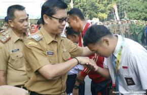 Pemkab Subang Lepas Petugas Pemeriksa Hewan Kurban Serta Penyerahan Medali Dan Piala pada KejuaraanT