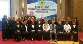 Bupati Cellica Lantik Dan Kukuhkan Pengurus Perwosi Kab. Karawang Masa Bakti 2019-2023